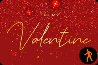 Animated Be My Valentine Sparkling Desire Background