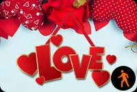 Animated Romantic Hearts Love Background