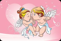 Valentines day email backgrounds. Valentine's Angel & Cupid