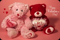 Teddy Bears For Valentine's Day Background