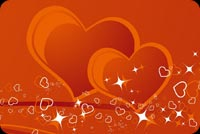 Valentine Hearts Love Background
