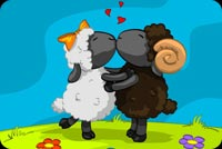 Valentines day email backgrounds. Sheeps In Love