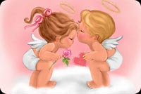 Valentines Cupid Angels Background