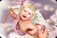 Cute Baby Cupid Background