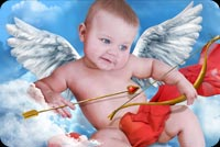 Cute Cupid Boy Background