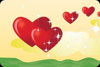 Valentines day email backgrounds. Valentine Hearts!
