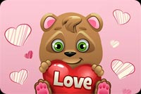 Cute Teddy Bear Love Background