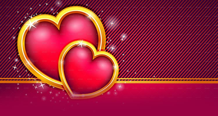 Valentines Day email stationery (stationary): Love Hearts ...