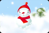 Winter email backgrounds. Red Hat Snowman