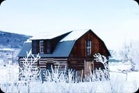 The House In Winter Background