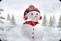 A Snowman In The Snow Background