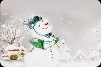 Winter email backgrounds. Snowwoman In The Village