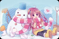 Lovely Girl & Snowman Background