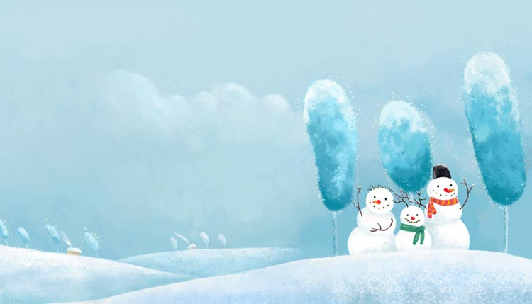 winter email stationery  stationary   snowman family