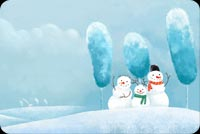 Snowman Family Background