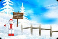 Snowman Happy Holidays Background