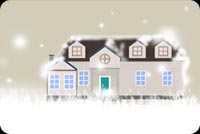 Winter House Background