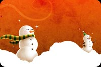 Winter Snowmen Background