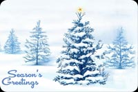 Winter Christmas Tree Background