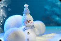 Winter email backgrounds. Smiling Snowman
