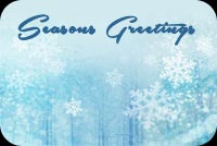 Winter email backgrounds. Snowflakes Season's Greetings