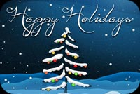 Winter email backgrounds. Christmas Tree Happy Holidays