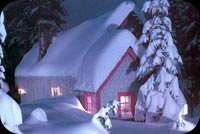 Winter email backgrounds. House Covered In Snow