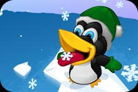 Winter email backgrounds. Cute Little Penguin