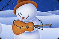 Snowmen Play Guitar Music Background