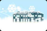 Winter Snow House Background