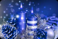 Winter email backgrounds. Blue Christmas