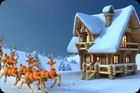 Winter email backgrounds. Santa Comes To Your House