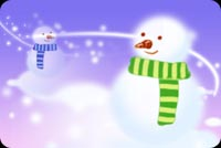 Two Snowmans Background